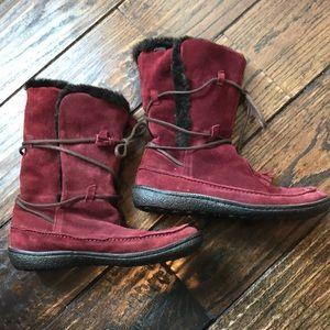 Maroon suede winter Camper boots